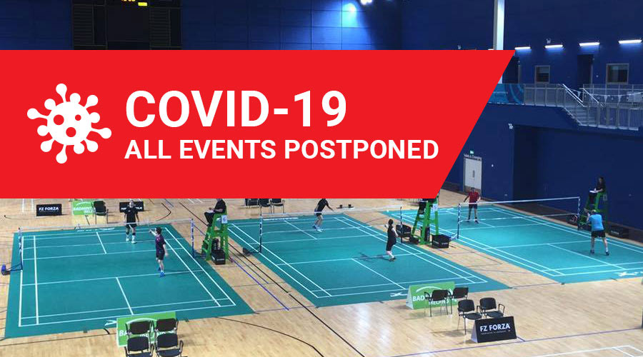 Covid 19 - Events Leinster Badminton Postponed - Ireland